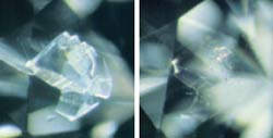 Before and After: Fracture Filled Diamond