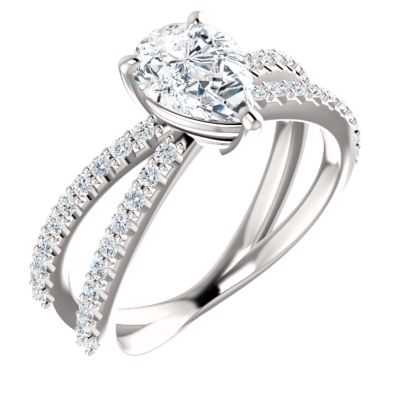 Diamond Pave Engagement Rings